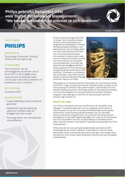 Philips koppelt Product Lifecycle Management aan monitoring en APM