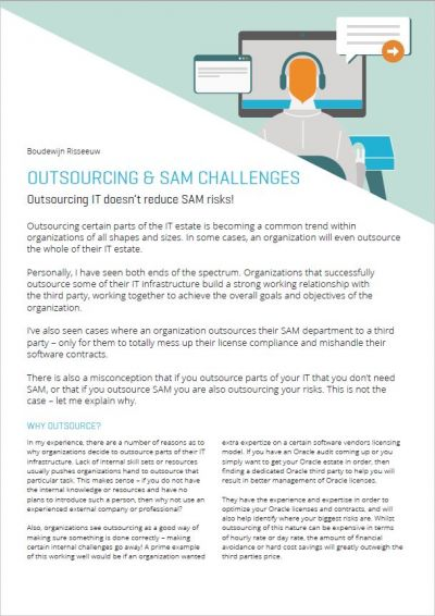 Outsourcing & Software Asset Management (SAM)