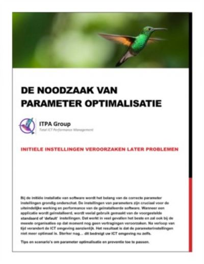 De noodzaak van parameter optimalisatie