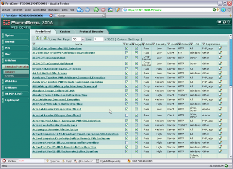 Fortinet screenshot