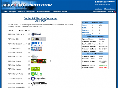SecPoint screenshot
