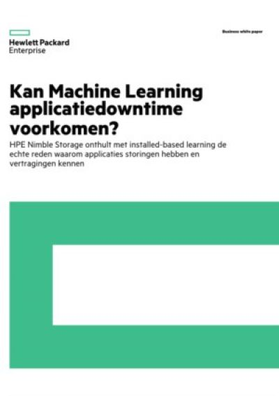Kan Machine Learning applicatiedowntime voorkomen?