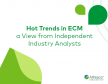 Trends in het  Enterprise Content Management landschap