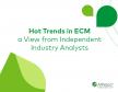 Trends in het  Enterprise Content Management landschap