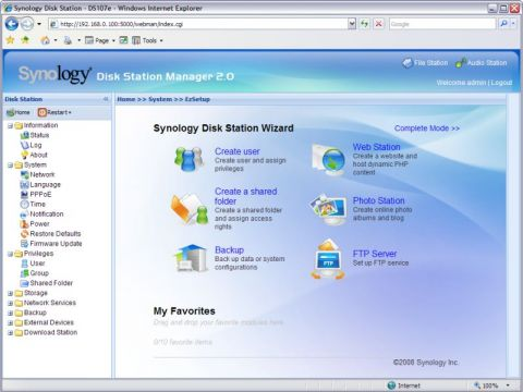 Synology Disk Station Manager 2.0