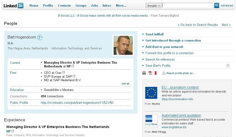 LinkedIn-account CEO HP Nederland gehackt | Computable.nl