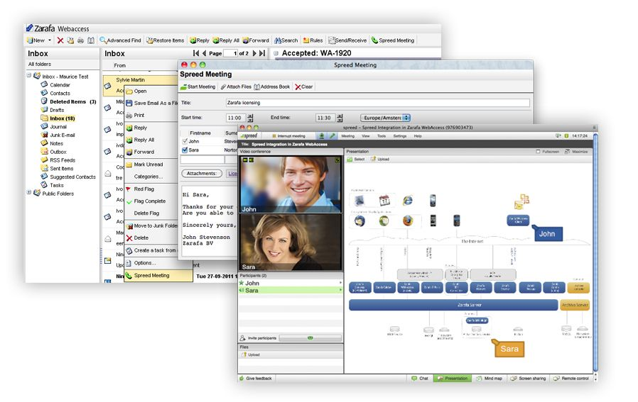Zarafa integreert webmeetings in mail- en agenda ...