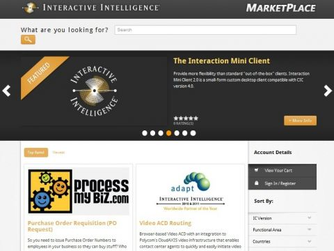 Interactive Intelligence start e-Commerce
