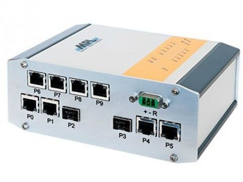 Industriële 10-port managed 10Gbit Switch