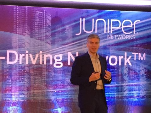 Rami Rahim, ceo Juniper Networks, tijdens PR Summit 2017 in Londen